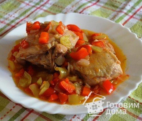 Курица чилиндрон (pollo al chilindrón) по-арагонски