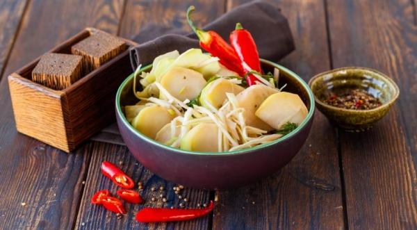 Соленые овощи по-гагрски