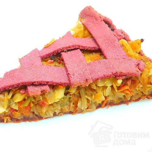 Пирог с капустой сочная фуксия