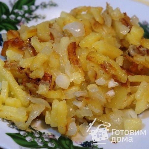 Жареная картошка с маслятами
