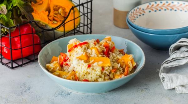 Тыквенное рагу с рисом