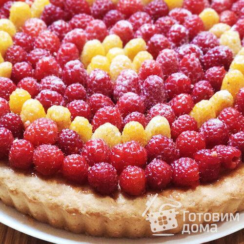 Пирог с творожной начинкой и ягодами